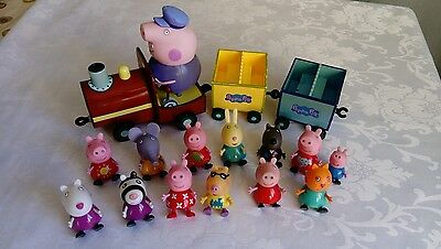 peppa pig bundle - musical talking train with peppa george and friends
