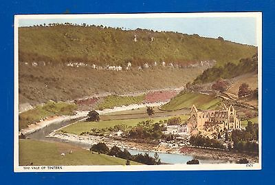 Postcard Vale of Tintern showing Tintern Abbey unposted .Very good condition.