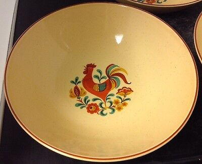 "Taylor Smith Taylor ""Reveille Rooster"" 9"" Round Vegetable Bowl - 3 available"