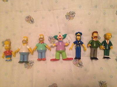 Lot Of 7 Loose Simpsons World Of Springfield Figures Most Accessories Included