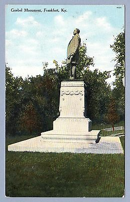 Frankfort, Kentucky 1909 Vintage Picture Postcard - Goebel Monument