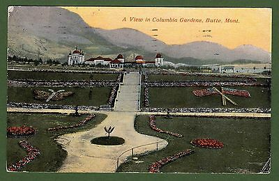 Butte, Montana 1911 Vintage Picture Postcard - A View in Columbia Gardens