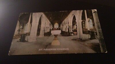 Old postcard st keverne church posted 1923