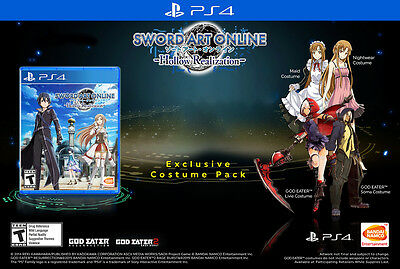 Playstation Sword Art Online Hollow Realization costume pack PS4  DLC