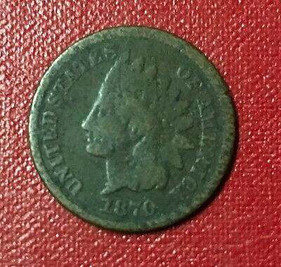 1870 Indian Head Cent,AG,Free Ship