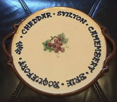 LM Ceramic Cheese Plate 9,5""