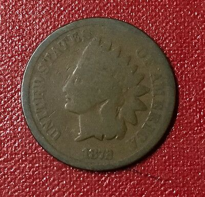 1872 Indian Head Cent,AG,Free Ship