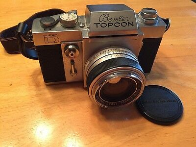 VINTAGE BESELER TOPCON SUPER D CAMERA w/ RE, AUTO-TOPCOR 1:1.8 f= 58mm LENS