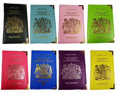 UK And European Passport holders Cover Protector PU Leather Wallet Holder