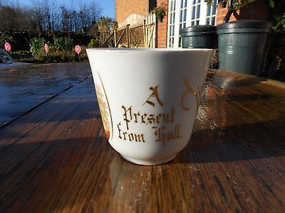 """Vintage German Moustache Cup """"A Present from Hull"""""""
