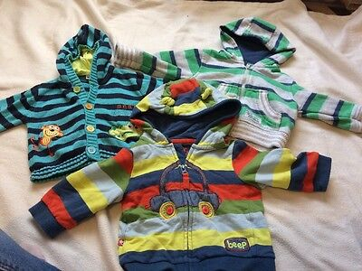Set Of 3 Baby Boys Hooded Jackets 3-6 Months