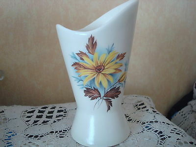 Vintage Eastgate Pottery Vase Floral Design Made In England