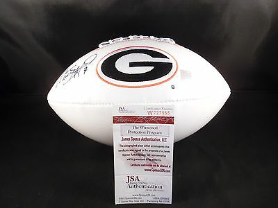 Matthew Stafford Georgia Bulldogs Autographed Football Jsa Certified