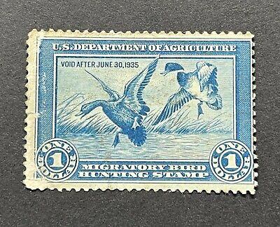 WTDstamps - #RW1 1934 - US Federal Duck Stamp - NG