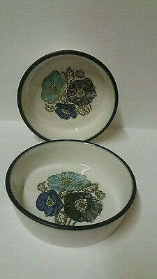 Wedgwood Made In England X 2 Vintage Iona Cereals Bowls