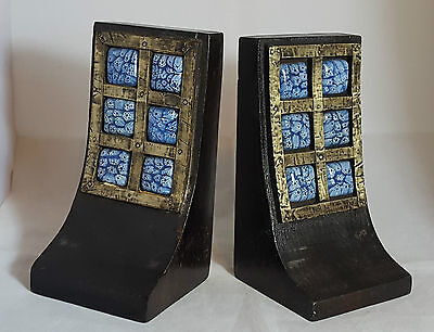 Pair of Beautiful Decorative Solid Wood Book Ends (Height - 18 cm)