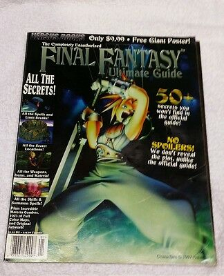 Final Fantasy VII 7 Versus Books Ultimate Strategy Guide + Poster