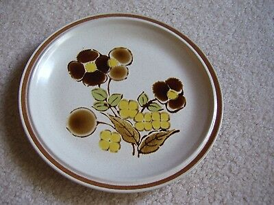 """Hearthstone Stoneware Floral Expressions """"foliagetime"""" 8 In Plate"""