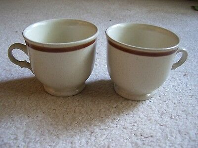 Two Hearthstone Stoneware Floral Expressions 8 Oz Coffee Cups