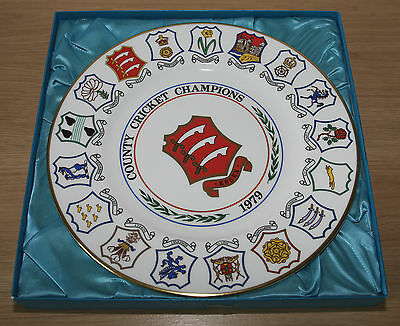 ESSEX COUNTY CRICKET COUNTY CHAMPIONSHIP WINNERS PLATE 1979 [Boxed]