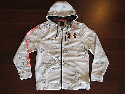 NWT $94 Under Armour Storm Ridge Reaper Snow Camo Cold Gear Hoodie Hunting L Zip