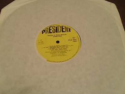 """George & Gwen McCrae - Together - 12"""" LP 1975 President Records"""