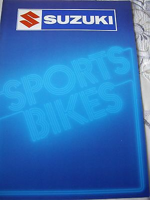 Suzuki Sports Bike range sales brochure, GS650 Katana, GS850/1100G