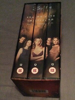 Buffy The Vampire Slayer Season 5 Part 1 Episode 1-11 VHS Videos Tapes
