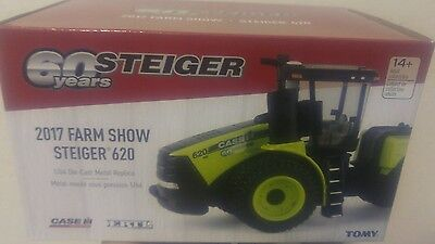 NEW! 1/64 Case IH Steiger 620 Green winter farm show, very nice new in package