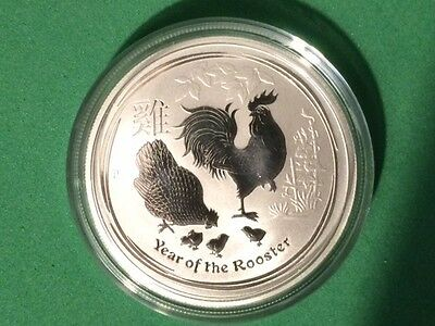 Silver Coin 1/2 oz Lunar II Year Of The Rooster - Lunaire Année Du Coq  2017