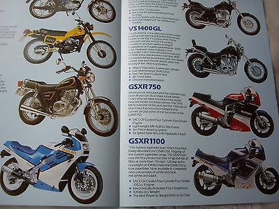 Suzuki 1987 sales brochure, GSXR400/750 &1100 Hyper Sports
