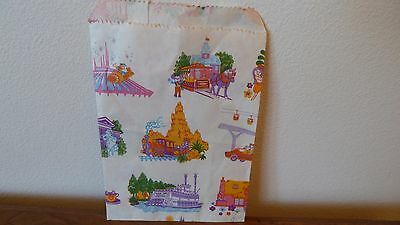 "Vintage DISNEYLAND Paper Gift Bag 8 1/2"" x 5"" Country Bears, Small World"