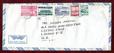 BANGLADESH COVERS- Sixty-dome mosque 10t pink + other stamp, airmail to UK ,1987