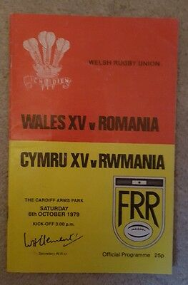 wales v Romania 1979 rugby union programme