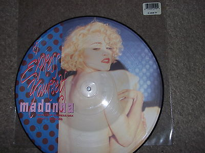 """Madonna 12"""" Picture Disc Record Vynil Express Yourself"""