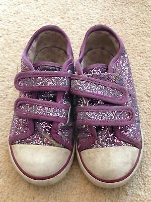 M&s Sparkly Purple Trainers Size 7