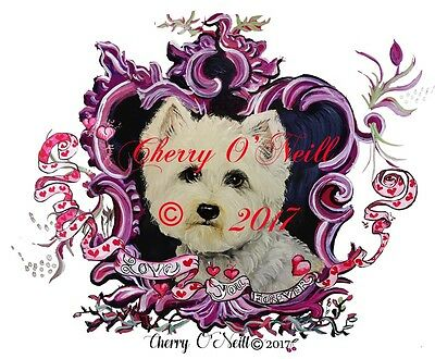 Westie Valentines! Boxed Set of 10 Identical West Highland White Terrier Cards