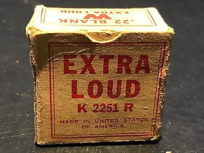 Vintage Box Winchester Blank Cartridges Old  Great Box K 2251 R