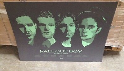 Fall Out Boy 2016 Tour Poster Hand Numbered 18x24