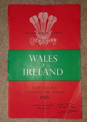 wales v Ireland 1955 rugby union programme
