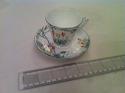 Circa 1930's Coffee cup and saucer 'tulips' by Brice Brooks Collectors item?