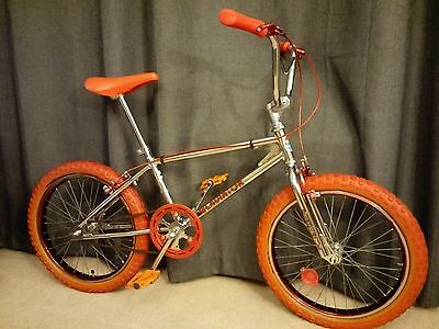 Rapido gladiator old school bmx 1980 chrome and red - free post