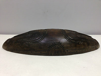 Papua New Guinea Siassi Incised Hand Carved Wood Ceremonial Bowl