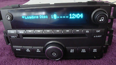 2006 2007 2008 2009 Buick Lucerne 6 Disc CD Player Radio Oem   Aux inpu 15871701