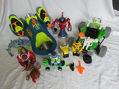 Huge Lot of Fisher Price Planet Heroes Action Figures Weapons Great Gift! BXD 5