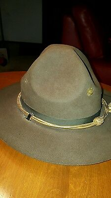 Vintage vintage US Military Army Hat Stetson scout ranger officer
