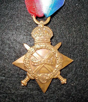 WW1  1914-15 Star medal Named to british soldier Dvr J Moore