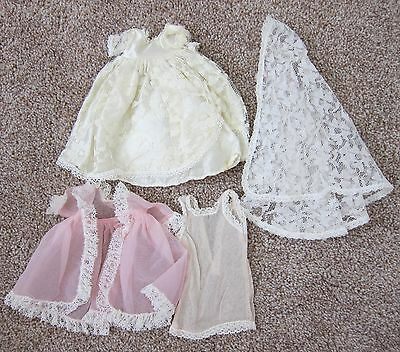 1950's Cosmopolitan Ginger Doll Clothes~NIGHTGOWN/ROBE & Tag WEDDING DRESS~EVC