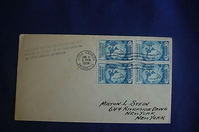 Byrd's Second Antarctic Expedition 3c Stamp FDC Beverly Hills P S Cachet Sc#733