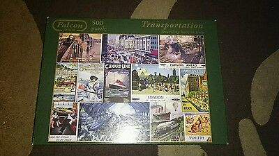 Transportation Posters TRAVELLING BACK IN TIME Falcon 500 JIGSAW PUZZLE